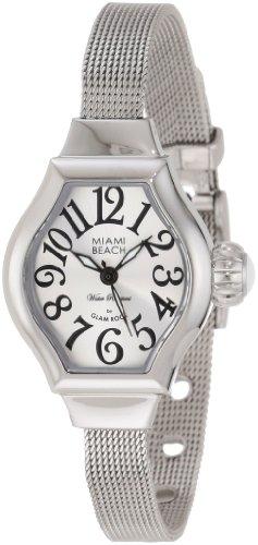 Glam Rock MBD27140 - Reloj de pulsera mujer, acero inoxidable, color plateado