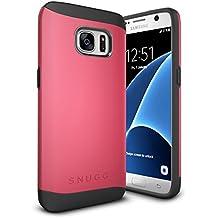 Funda Galaxy S7, Snugg Samsung Galaxy S7 Case Slim Carcasa de Doble Capa [Infinity Series] Revestimiento con Protección Anti-Golpes – Rojo