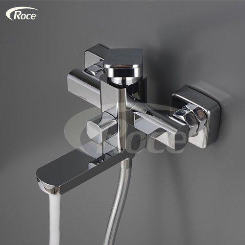 Luxurious shower Export nach Deutschland heiße und kalte Badewanne Armatur Wall Art Dusche Set mit der einfachen Duschkopf, siehe Tabelle -