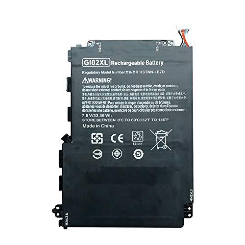 szhyon 7.6V 4930mAh 33.6wh Original GI02XL Laptop Battery compatible with HP Pavilion X2 12 12-B000 HSTNN-LB7D 832489-421 833657-005 Tablet