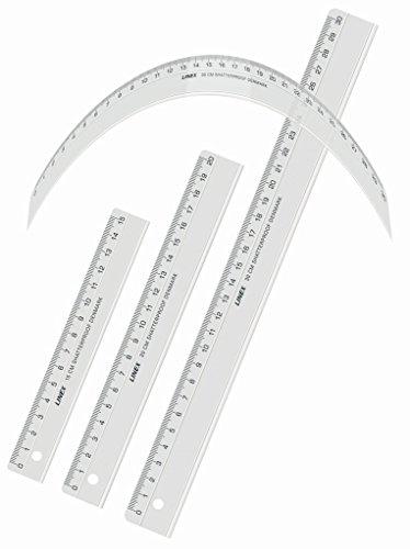 LINEX 100552559 Flex Flexibles-Lineal 15 cm unzerbrechlich unkaputtbar transparent, kann grenzenlos verdreht werden, für Beruf, Hobby und Schule
