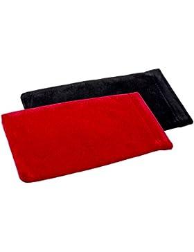 Funda de gafas con o sin cierre de resorte en diferentes colores y variantes (paquete doble, Funda de gafas de...
