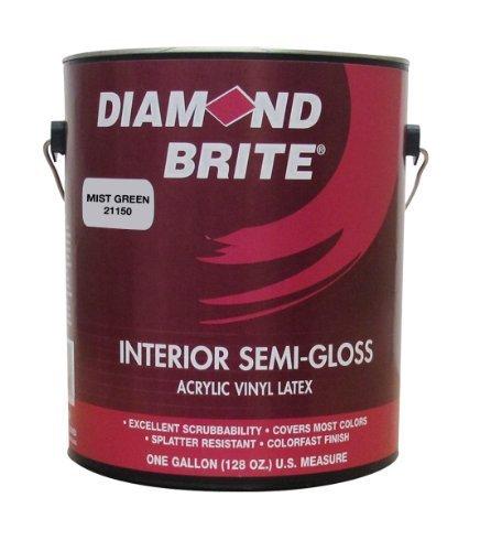 Gloss Semi Gloss Paint (Diamond Brite Paint 21150 1-Gallon Semi Gloss Latex Paint Mist Green by Diamond Brite Paint)