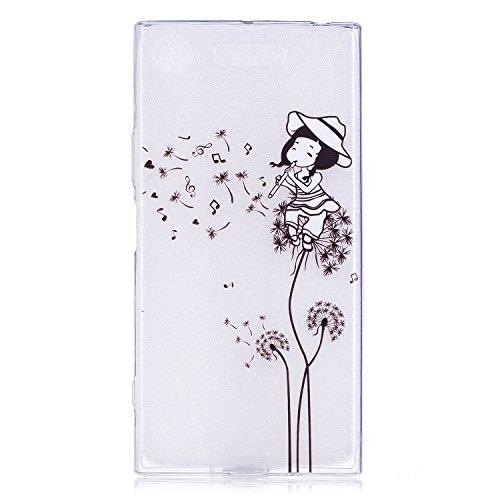 Sony Xperia XZ1 Compact hülle,Sony Xperia XZ1 Compact Case, Cozy Hut Kratzfeste Plating TPU Silicone Case Schutzhülle Ultra Dünn Tasche für mit Samsung Sony Xperia XZ1 Compact Hülle Case Transparent - Löwenzahn -Mädchen