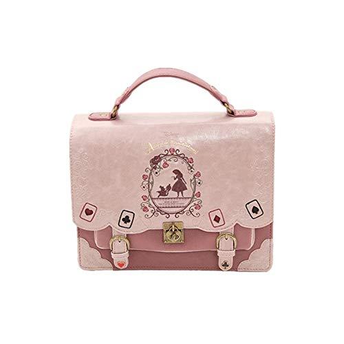 - Weiche Schwester Alice In Wonderland Poker Silhouette Malerei Schultertasche Messenger Bag Handtasche 4 Farben erhältlich /-/ (Farbe : A) ()