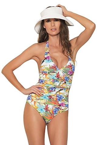 Estivo Hawaiian Halter Une Piece Bathing Suit, Maillots de bain pour femme. EU 36 - (S)