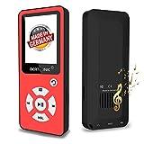 BERTRONIC Made in Germany BC01 Royal MP3-Player, 32 GB ★ Bis 100 Stunden Wiedergabe ★ Radio | Portabler Player mit Lautsprecher | Audio-Player für Sport mit Micro SD-Karte & Silikonhülle