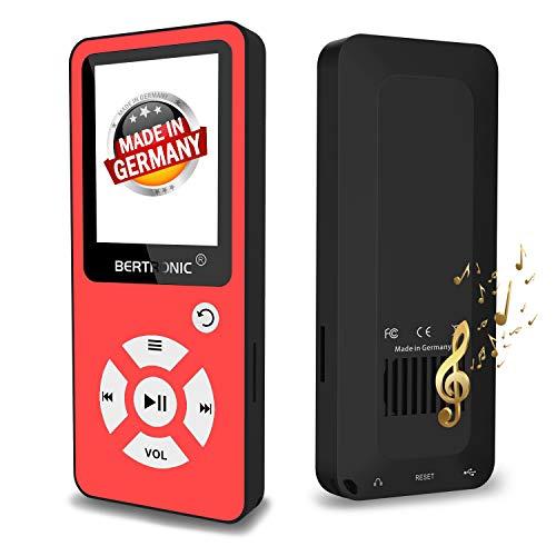 rmany BC01 Royal MP3-Player, 32 GB ★ Bis 100 Stunden Wiedergabe ★ Radio | Portabler Player mit Lautsprecher | Audio-Player für Sport mit Micro SD-Karte & Silikonhülle ()