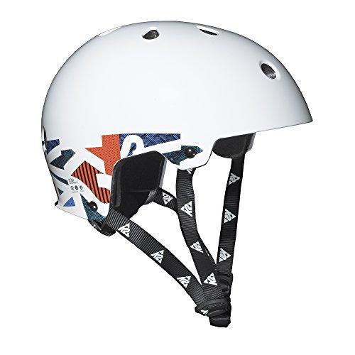 K2 Jungen Kopfschutz Junior Varsity, weiß mit Grafik, 48-54 cm, 3054202.1.1