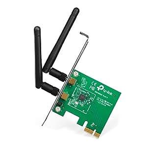 TP-Link TL-WN881ND Scheda di Rete Wireless N 300 Mbps PCIe, Tecnologia MIMO, Crittografia WPA/WPA2, Semplice Configurazione