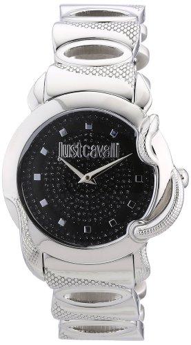 Just Cavalli R7253576502 - Reloj analógico para mujer de acero inoxidable negro