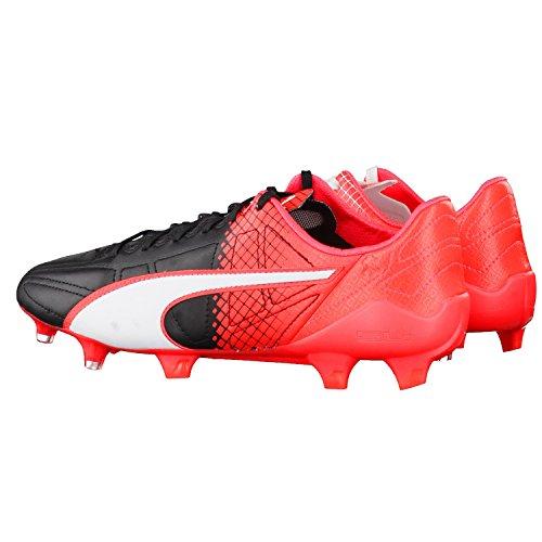 Puma - Evospeed Sl Ii Lth Tricks Fg, Scarpe da calcio Uomo Puma Black-Puma White-Red Blast