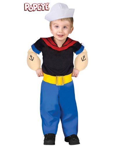 Fun World Popeye The Sailor Cartoon Costume S (24 (Baby Popeye Kostüm)