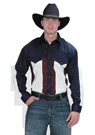 Western Chemise americaine cowboy country USA - 100% coton - Homme - Taille M