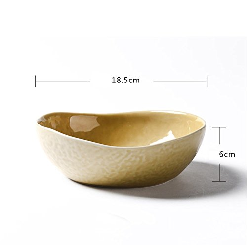 WANGS Yi JIA kreative speise Teller Keramik Teller tief Porzellan Platte Haushalt Platte Geschirr Teller unregelmäßige personalisierte Abendessen suppenteller-E