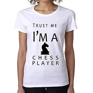 Trust Me I'm A Chess Player Women's T-Shirt Damen Short Sleeve Top Small