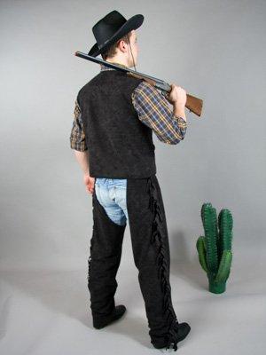 56/58 Cowboy-Weste, schwarz ()