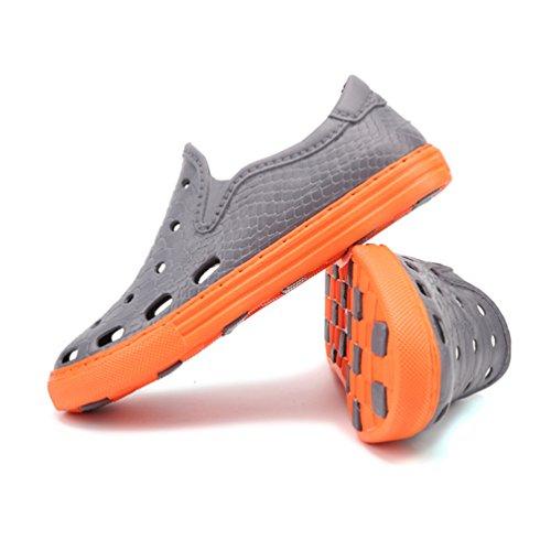 YiLianDa Pantoufles d'été Mode Sandales Hommes Chaussons Confortable Chaussure de Bain Plage Gris