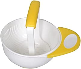 Skudgear BPA Free Mash and Serve Bowl for Making Baby Food (Yellow)
