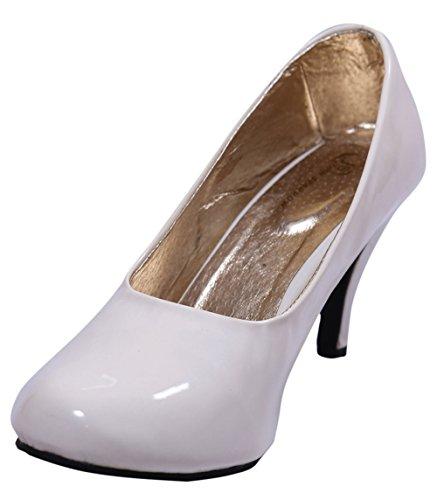 John Sparrow casual talons hauts élégants souliers de femme ventre sandale - choisir la taille Blanc