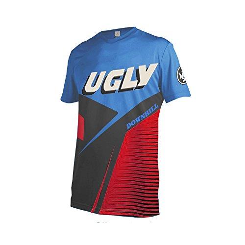 Uglyfrog 03 Designs Blocks Motocross/Downhill Jersey kurze Ärmel Trikot MX Enduro Offroad Gelände Quad Cross Erwachsene