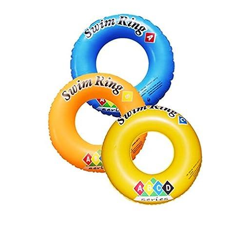 1pc/PVC Nastro Pattern adulti sicurezza gonfiabile galleggiante Piscina Giocattoli Piscina Circle, Nuoto Anello boa galleggiante giri