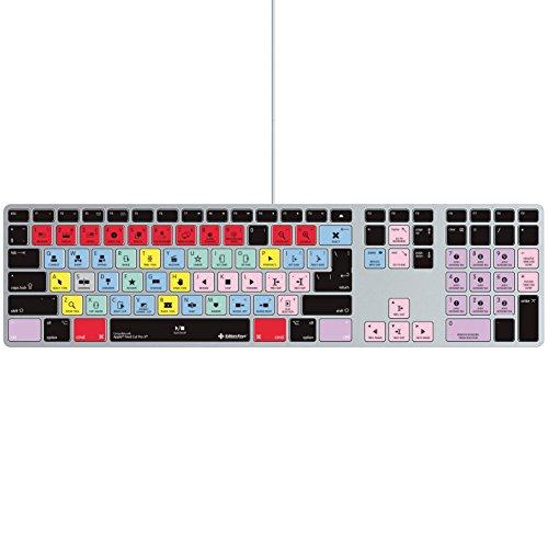 Final Cut Pro X Tastaturabdeckung für iMac, ultradünne Verkabelung (Final Cut Tastatur)