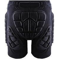 Cojin de proteccion extremo de cadera - SODIAL(R) BMX pantalones cortos protectores de cadera para reducir impacto de motocicleta de motocross negro XXXL