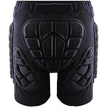 Cojin de proteccion extremo de cadera - SODIAL(R) BMX pantalones cortos protectores de cadera para reducir impacto de motocicleta de motocross negro XXL