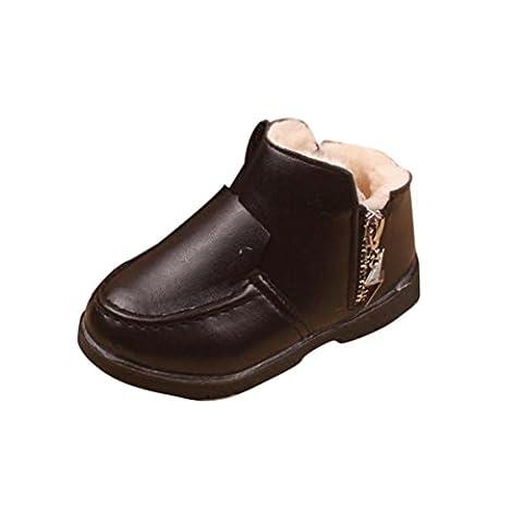 Bluestercool Chaussures bébé Filles Garçons d'hiver épais Bottes de neige