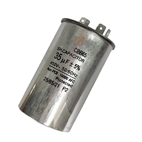 Baoblaze 450V 35UF Rundförmiger Motor Kondensator Betriebskondensator Anlaufkondensator