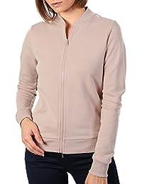 PILOT® Women's Plain Zip Front Long Sleeve Jogger Top in Dusty Pink