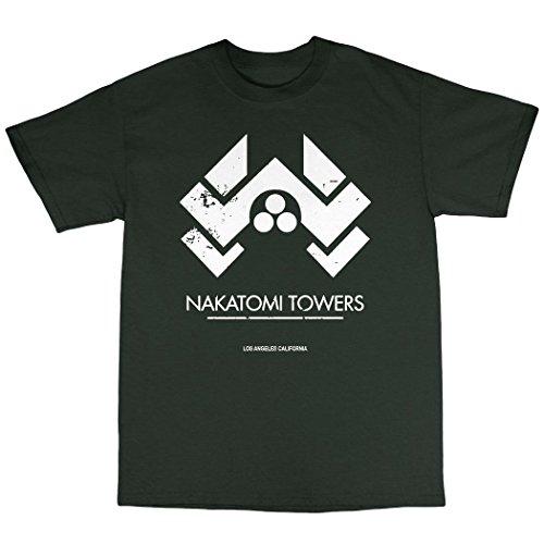 Nakatomi Towers T-Shirt Baumwolle Waldgrün