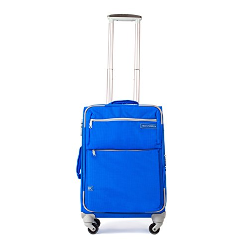 unisex-nylon-lightweight-durable-travel-roller-luggage-suitcase-20in-blue
