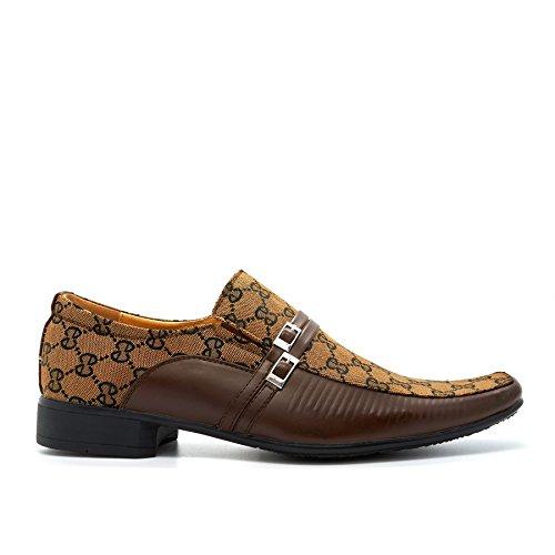 London Footwear ,  Herren Durchgängies Plateau Sandalen mit Keilabsatz Braun / Schwarz