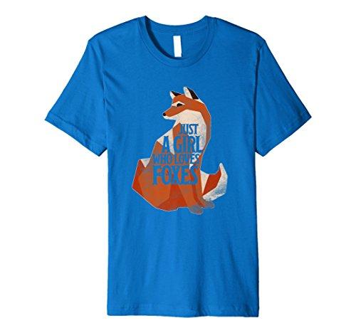 Nur ein Mädchen, die loves Füchse Funny Shirt -
