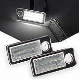 VIGORFLYRUN PARTS LTD 2PCS Auto LED Kennzeichenbeleuchtung Nummernschilder Licht für A4 B5 S4 Avant RS4 A6 S6 B4 C5 Avant RS6/RS6 Plus, Xenon Weiße Farbe Licht