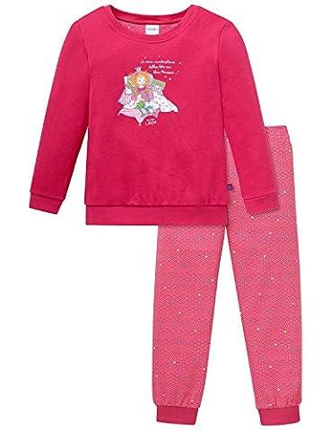 Schiesser Mädchen Zweiteiliger Prinzessin Lillifee Md Schlafanzug Lang, Rot (Pink 504), 104