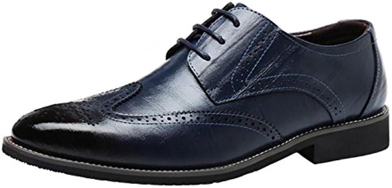 les richelieus dadawen formelle dentelle dentelle dentelle cuir chaussures en bout d'aile 9d9acc