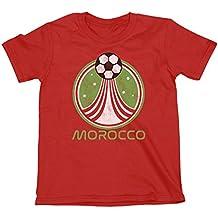 Niños O Niñas Morocco Country Name and Rocket Ball Camiseta Fútbol Copa ...