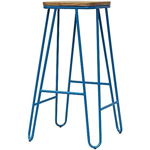 Fusion Living Aqua Blue tornante Metal Bar sgabello con luce