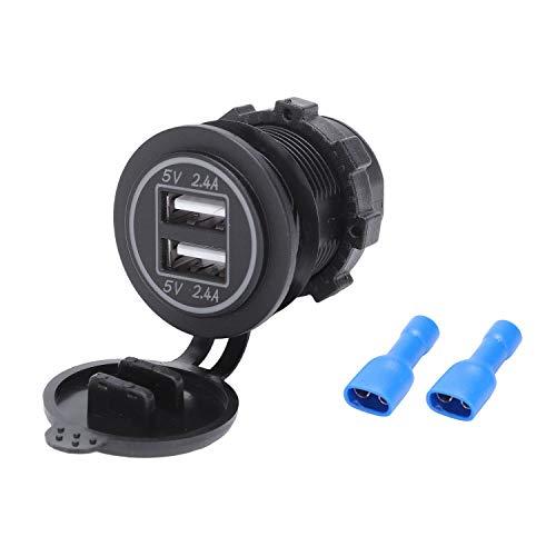 Preisvergleich Produktbild SODIAL 5 V 4.8A Dual USB Ladegert Buchse Adapter Steck Dose Für 12 V 24 V Auto Schiff Rv
