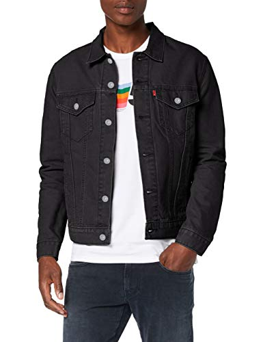Levi's Herren The Jacket Jeansjacke, Schwarz (Berk Trucker 0306), X-Small -
