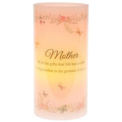 Vela LED de Navidad con la frase en inglés «Mother Sentimental»