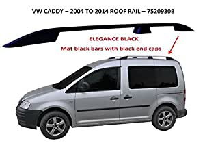 Omtec Black Roof Rails Bars To Fit Vw Caddy 2004 2009