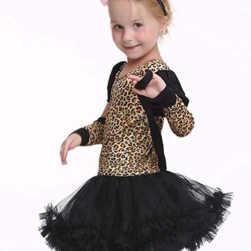 AIYA Halloween Kinder Leopard Cosplay Kostüm Anzug Spielen (Noch Spiel Kostüm)