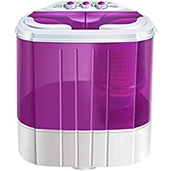 WJMLS Mini centrifugeuse portative de laveuse de cuve jumelle de Drain de gravité de Machine à Laver portative, idéale for Les dortoirs, Appartements, véhicules récréatifs, Camping