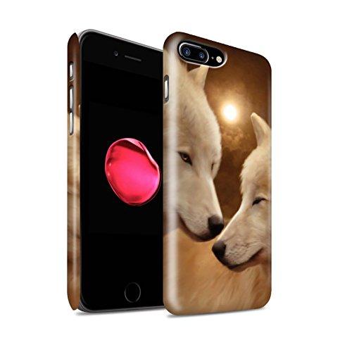 Officiel Elena Dudina Coque / Clipser Matte Etui pour Apple iPhone 8 Plus / Le Brave/Chaton Design / Les Animaux Collection Loups Blancs