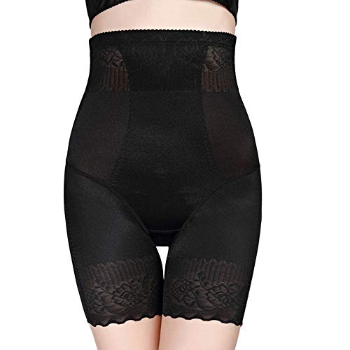 ❤TIFIY Korsett Damenhosen Hohe Taille Schwarze Spitze Weibliche Shorts Bequeme Shapewear Nach der Geburt verfügbar Repariert Täglich Prägnant Corsagen(Schwarz,XXL) -