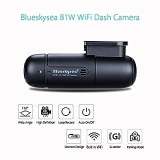 Blueskysea B1W Autokamera Auto Dash Kamera WiFi Mini Dash Cam G-sensor 360° Objektiv 1080p 30 fps Loop Aufnahme Fahrzeug DVR Rekorder
